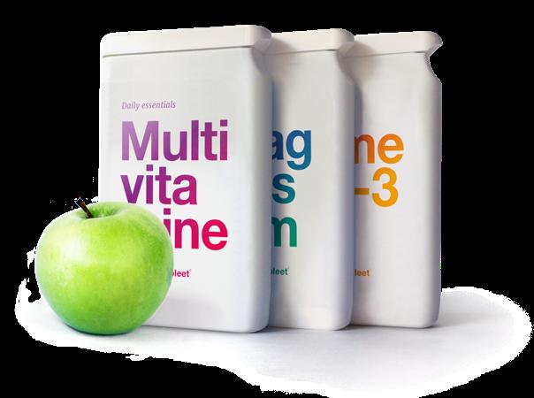 Verpakkingen Multivitamine, Magnesium en Omega 3