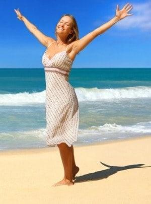 Slank op het strand